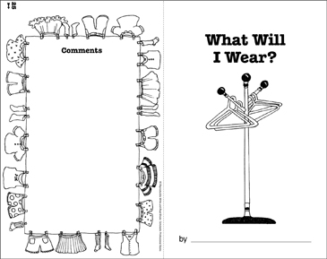 What Will I Wear?: Write-and-Read Book - Printable Worksheet