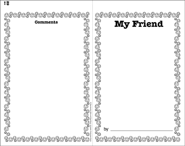 My Friend: Write-and-Read Book - Printable Worksheet