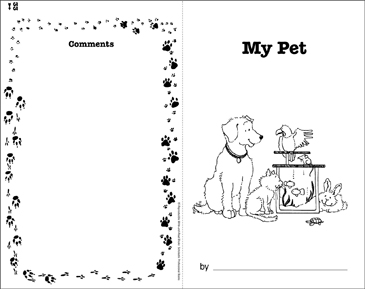 My Pet: Write-and-Read Book - Printable Worksheet