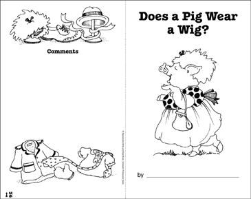 Does a Pig Wear a Wig?: Write-and-Read Book - Printable Worksheet