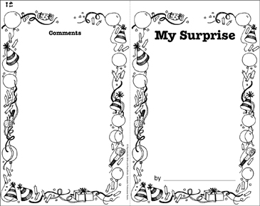My Surprise: Write-and-Read Book - Printable Worksheet