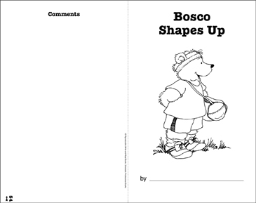 Bosco Shapes Up: Write-and-Read Book - Printable Worksheet