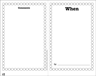 When: Write-and-Read Book - Printable Worksheet