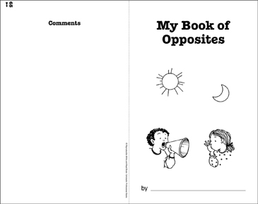 My Book of Opposites: Write-and-Read Book - Printable Worksheet