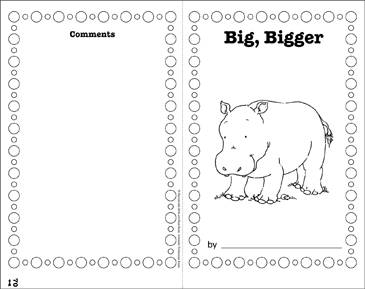 Big, Bigger: Write-and-Read Book - Printable Worksheet