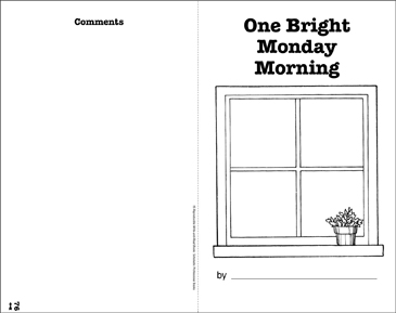 One Bright Monday Morning: Write-and-Read Book - Printable Worksheet