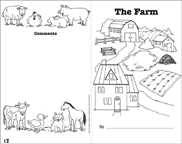 The Farm: Write-and-Read Book - Printable Worksheet