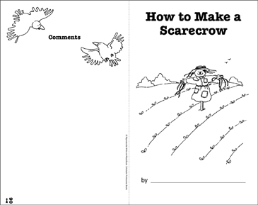 How to Make a Scarecrow: Write-and-Read Book - Printable Worksheet