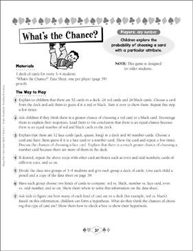 What's the Chance? (Probability) - Printable Worksheet