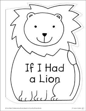 If I Had a Gorilla: Collaborative Book - Printable Worksheet