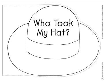 Who Took the Farmer's Hat?: Collaborative Book - Printable Worksheet