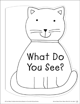 What Do You See?: Collaborative Book - Printable Worksheet