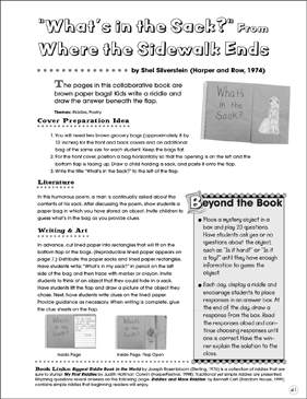 What's in the Sack?: Collaborative Book - Printable Worksheet