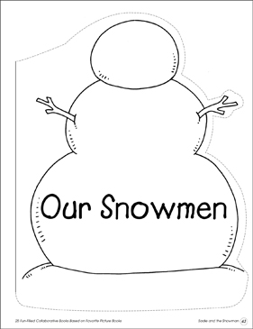 Our Snowmen: Collaborative Book - Printable Worksheet