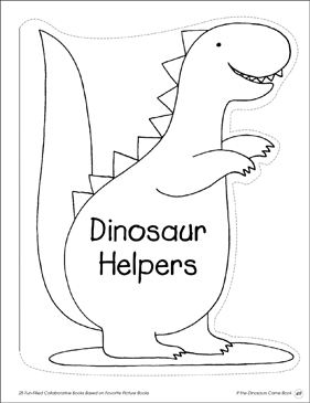 If the Dinosaurs Came Back: Collaborative Book - Printable Worksheet