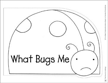 The Grouchy Ladybug: Collaborative Book - Printable Worksheet