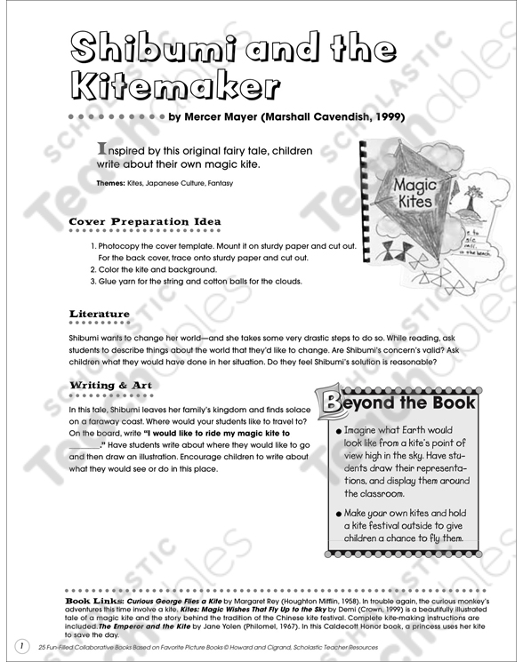 Magic kites collaborative book printable lesson plans and ideas see inside image maxwellsz