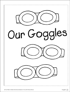 Goggles! Collaborative Book - Printable Worksheet