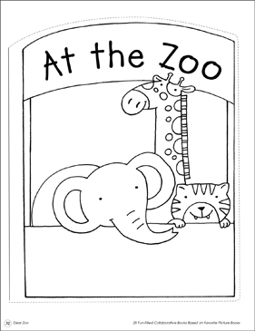 At the Zoo: Collaborative Book - Printable Worksheet