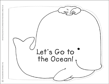 Let's Go to the Ocean!: Collaborative Book - Printable Worksheet