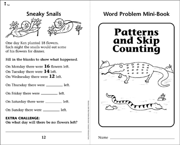 Patterns and Skip Counting - Printable Worksheet