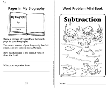 Subtraction - Printable Worksheet