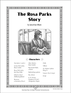 Rosa Parks: Read-Aloud Play, Civil Rights - Printable Worksheet