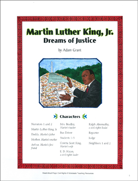 Martin Luther King, Jr.: Civil Rights Play - Printable Worksheet