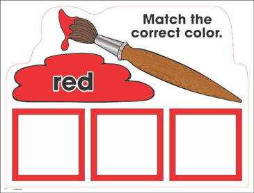 Red: Color Mats (Match, Trace, Write) - Printable Worksheet