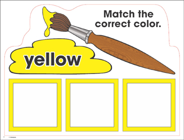 Yellow: Color Mats (Match, Trace, Write) - Printable Worksheet