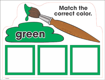 Green: Color Mats (Match, Trace, Write) - Printable Worksheet