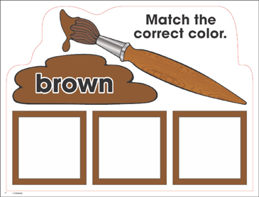 Brown: Color Mats (Match, Trace, Write) - Printable Worksheet