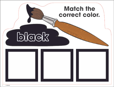 Black: Color Mats (Match, Trace, Write) - Printable Worksheet