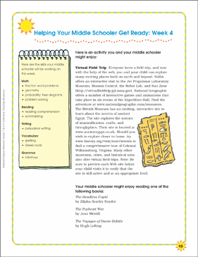 Week 4: Summer Express Between Grades 7 and 8 - Printable Worksheet