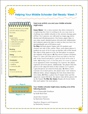 Week 7: Summer Express Between Grades 7 and 8 - Printable Worksheet