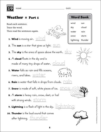 weather content words grade 1 vocabulary printable. Black Bedroom Furniture Sets. Home Design Ideas