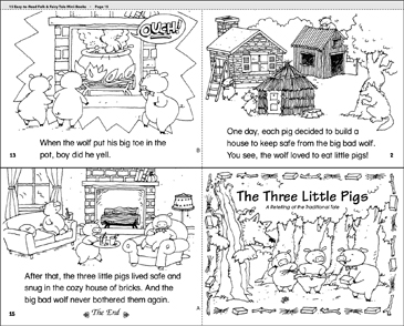 image relating to Three Little Pigs Printable named The A few Tiny Pigs Printable Mini-Publications