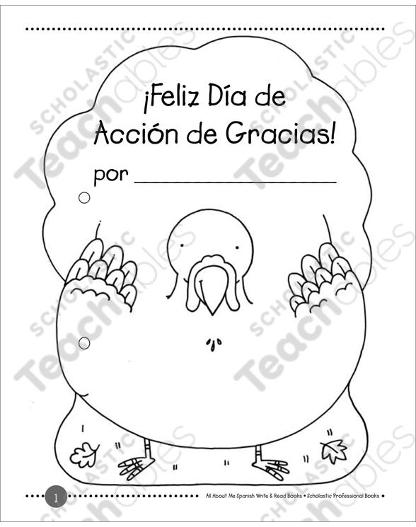 Feliz Dia De Accion De Gracias Write Read Book Printable Mini Books Las familias celebraron el día de acción de gracias, ocasionando que la víspera se movilizaran en avión al menos 1,1 millones de personas, un réc. printable mini books