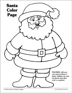 Santa Coloring Page | Printable Coloring Pages