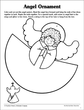 photo relating to Angel Printable named Angel Ornament Behavior Printable Arts, Crafts and Expertise