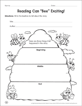 "Reading Can ""Bee"" Exciting: Reading Response - Printable Worksheet"