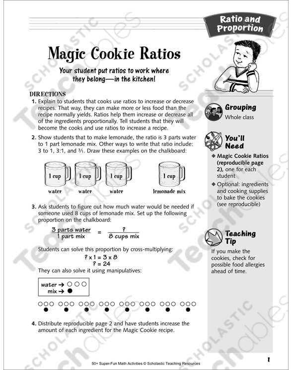 Magic Cookie Ratios Recipe And Ratios Ratio And Proportion