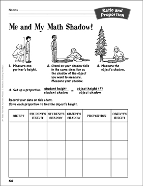 photograph about Ratio and Proportion Printable Worksheets named Me My Math Shadow!: Ratio Percentage Video game