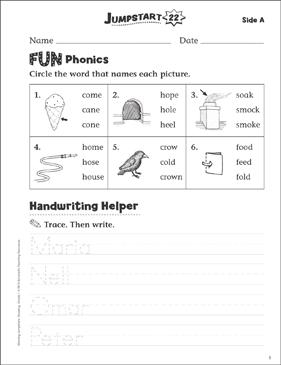 independent practice grade 1 reading jumpstart 22 printable skills sheets. Black Bedroom Furniture Sets. Home Design Ideas