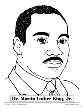 Dr. Martin Luther King, Jr. Line Drawing | Printable ...
