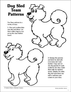 More Dog Sled Team Patterns Printable Arts Crafts Lesson Plans