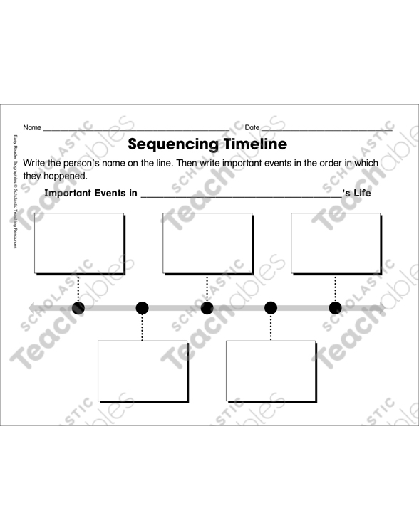 Sequencing Timeline Template Ordering Biographical Events