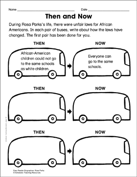 Rosa Parks: Lesson Plan & Activity Page - Printable Worksheet