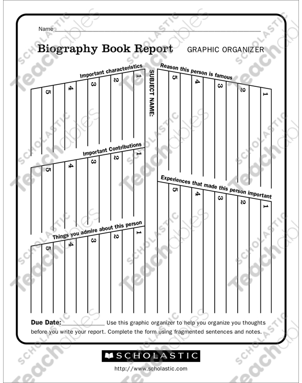 picture relating to Biography Graphic Organizer Printable referred to as Biography Ebook Post Impression Organizer Printable Impression