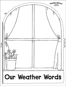 Weather Window: A Word Wall Template - Printable Worksheet